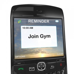 Smart phone reminder to join gym